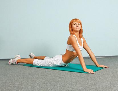 Упражнения от живота - Подъем корпуса